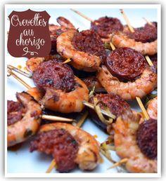 Crevettes et chorizo espagnol