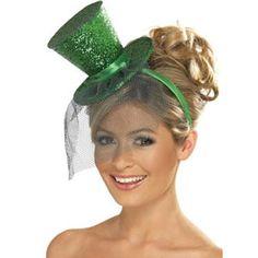 St Patrick s  Mini Top Hat (Green Glitter) £5.99 Mini Sombreros De Copa 30271fa39ac