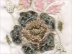 Bead embroidery, Lace trims, Designer embroidery, Hand embroidery designs