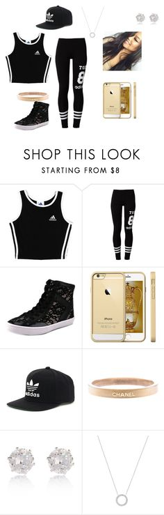 """""""Hip hop 2"""" by megangainous ❤ liked on Polyvore featuring adidas, adidas Originals, Rebecca Minkoff, Chanel, River Island and Michael Kors"""