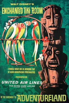 Disneyland Enchanted Tiki Room 1963 Poster
