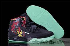 Cheap Nike Air Yeezy 2 NGR Black Red Green