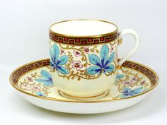 Minton Cup and Saucer with Raised Enamel Decoration @ Pixel PIXNET ::