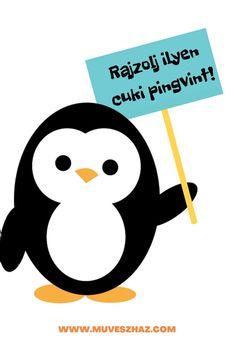 Kreatív feladatok gyerekeknek - Hogyan rajzolj pingvint Urban
