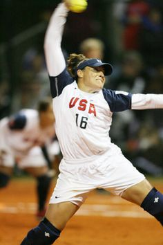 Lisa Fernandez...amazing pitcher that I'm sure a lot of you have never heard of