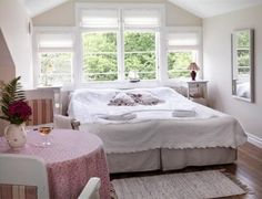 Pensionat Styrsö Skäret stands on a traffic-free, picturesque, little island in the middle of the beautiful and unspoiled archipelago of Sweden's west coast. Countryside Hotel, Little Island, Windows, Bed, Room, Sweden, Furniture, Home Decor, Bedroom