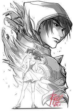 Jin X xiaoyu Cartoon Video Games, Cartoon Art, Game Character Design, Character Art, Tekken 7 Jin, Jin Kazama, Miraculous Ladybug Anime, Anime Sketch, Fighting Games