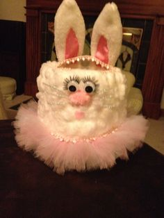 Milk gallon easter bunny basket homemade easter baskets easter princess ballerina bunny easter basket made from a gallon milk jug and cotton balls easter negle Image collections