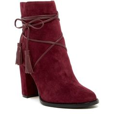 Vince Camuto Garrit Wraparound Lace Bootie ($100) ❤ liked on Polyvore featuring shoes, boots, ankle booties, ankle boots, black high heel boots, black ankle booties, lace ankle boots and black high heel booties