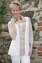 Orla by Tivoli longer line beige/white jacket.7867 Was £149 now...
