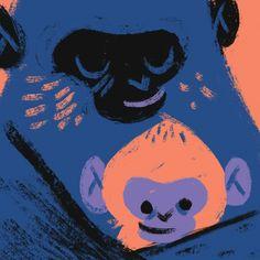 Monkey Hug by Carolina Buzio