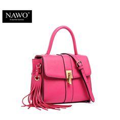 3cbf73f45205 NAWO Leather Woman Bags 2016 Bag Handbag Fashion Handbag Brand Luxury Tote  Shoulder Bag Zipper Womens Hand Bags Designer…