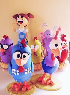 Turma da galinha pintadinha de 20 a 30cm de altura, <br>7 Peças em Biscuit <br>as peças podem ser vendidas separadamente, e fazemos outros personagens da turma!