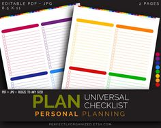 Universal Checklist Daily Planner Cleaning by PerfectlyOrganized