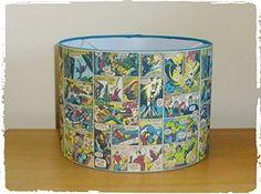 "MARVEL AVENGERS COMIC BOOK STRIP - LAMPSHADE - 10"" DRUM - BOYS BEDROOM LAMP SHADE Gifts & Pressies http://www.amazon.co.uk/dp/B00SPUFIPY/ref=cm_sw_r_pi_dp_7OJ0ub1F8EEZJ"