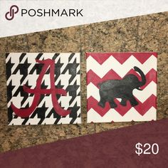 university of Alabama canvas handmade! great for dorm rooms Other