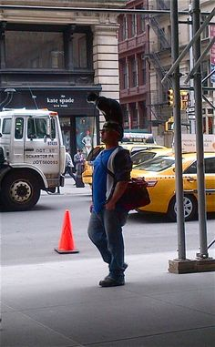 Cat on the hat... Only in NY...