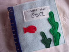 Quiet Book/Sensory Book of Touch and Feel Under the Sea Creatures made from Felt on Etsy, $24.00