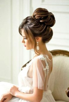 91 best wedding hairstyles for short and long hair 2018 - Hairstyles Trends Vintage Wedding Hair, Short Wedding Hair, Wedding Updo, Formal Wedding, Trendy Wedding, Luxury Wedding, Best Wedding Hairstyles, Bun Hairstyles, Hairstyle Ideas