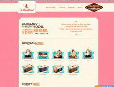 Il Cavallino #webdesign #inspiration #pink #pastry #icecream #cake #vintage #retro