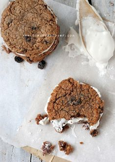 Grain Free No 'Oatmeal' Creme Pie Cookies (Egg/Dairy/Grain Free, Vegan Options)