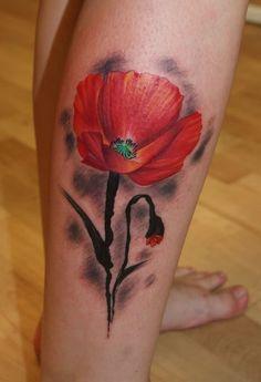 poppy flower tattoo 52 - 70 Poppy Flower Tattoo Ideas