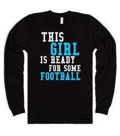 0ea4b152fcf This Girl is Ready for some Football long sleeve tee t shirt Cheer Shirts