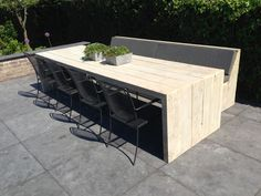 Homemade Tables, Outdoor Tables, Outdoor Decor, Lounge, Interior And Exterior, Outdoor Living, Outdoor Furniture Sets, Woodworking, Diy