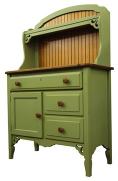 Paint doesn't just have to stay on the walls. Refinish an old piece of furniture like a buffet with Leapfrog (SW 6431) to coordinate with your room design.