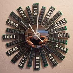 For those who would rather look at their wall for the time than their screen, these 8 cool clocks are made from upcycled computer parts.
