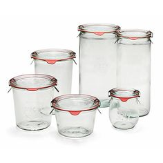 Der Segen der sommerlichen Ernte in Obst- und Gemüsegarten wird eingeweckt, und das geschieht natürlich in den Gläsern...-Weckglas Sturzform (4 Stück)