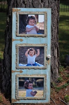 Shabby Chic Inspired  Custom Wall Art in Blue by freedomdivine, $130.00 Shabby Chic Dekoration, Shabby Chic Wall Decor, Shabby Chic Frames, Shabby Chic Vintage, Shabby Chic Style, Shabby Chic Bedrooms, Old Cabinet Doors, Cabinet Door Crafts, Old Cabinets
