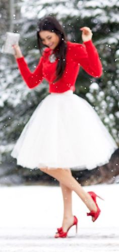 Beautiful Perfect Festive Outfit. Love the Shoesss. Christmas Time... by Pink Peonies