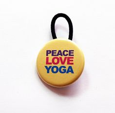 Peace Love Yoga Ponytail Holder, Hair Elastic, Yoga ponytail holder, Pony tail holder, Yoga Gear, Gift for her, stocking stuffer (6107) by KellysMagnets on Etsy Fun Ponytails, Thing 1, Needle Case, Gifts For Wine Lovers, Workout Accessories, Ponytail Holders, Little Gifts, Stocking Stuffers, Peace And Love