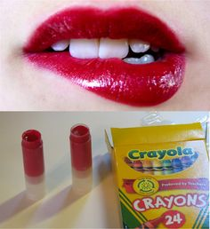 DIY lipstick made from any color of crayon (via sliceofbri on tumblr)
