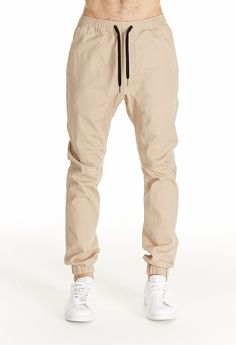 swap out your office khakis for a pair of khaki joggers // mens spring & summer street wear, style and fashion