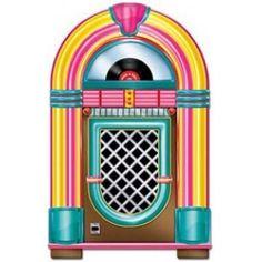 Rock n Roll Cutout Jukebox 91cm Each