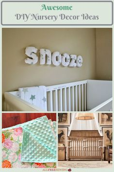 A DIY nursery is a great way to save some money. Plus, you get to be more creative and special in your decorating. With these DIY nursery decor ideas, there is something for everyone. Make these for your own baby or a new bundle of joy on the way. Nursery Crafts, Diy Nursery Decor, Diy Home Decor, Dyi Pillows, Baby Sewing Projects, Free Baby Stuff, Diy Kits, Craft Ideas, Decor Ideas