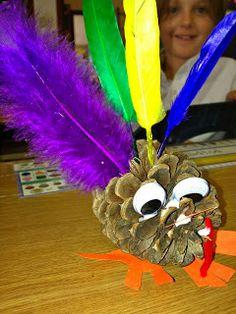 TWO Easy Thanksgiving Art Projects: See It, Do It Turkeys