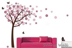 Cherry Blossom Vinyl wall sticker wall decal tree by SunnyWall, $53.00