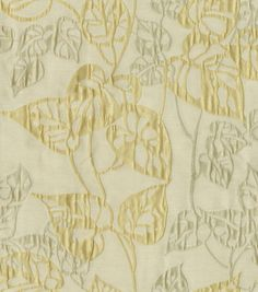 """Upholstery Fabric-Waverly Leaf Link/Shimmer  GLAM  not green but Gold and not so gold on top of a flatter but still shiny gold.  $32   Repeat: 24"""" x 28"""""""