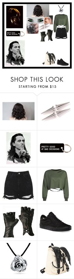"""Untitled #789"" by thin-mint on Polyvore featuring Various Projects, Topshop, WithChic, Vans, Bling Jewelry and Hot Topic"
