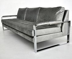 Good Milo Baughman Chrome Frame Sofa | Apartment Living And Mid Century Modern