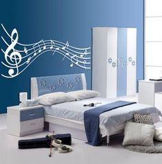 Contemporary musical bedroom decoration 296x300 - I want something like this staff in my bedroom!