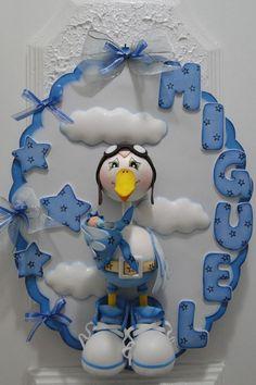 Baby Shower Fun, Baby Shower Themes, Baby Shower Decorations, Kids Crafts, Foam Crafts, Baby Shawer, Fondant Baby, Foam Sheets, Ideas Para Fiestas
