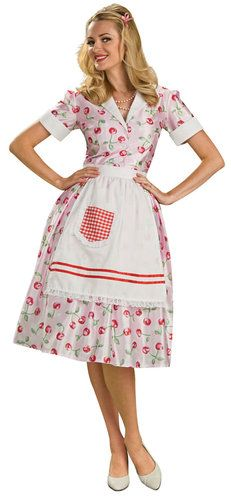 Adult 50s Housewife Costume. All men now a days wish that we women were a perfect Stepford Wife lol. Too bad for them, this is reality! lol