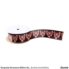 Burgundy Awareness Ribbon Angel Custom Art Designs