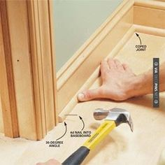 Neat - Interior trim work basics: All the trim basics,  start to finish, plus a clever way to get miters tight | CHECK OUT MORE CROWN MOLDING AND DIY CROWN MOLDING IDEAS AT DECOPINS.COM | #crown molding #crownmolding #diycrownmolding #trim #ceiling #homedecor #homedecoration #decor #livingroom