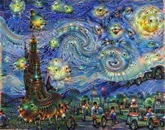 Google Deep Dream learned to make its own art using a machine learning algorithm.
