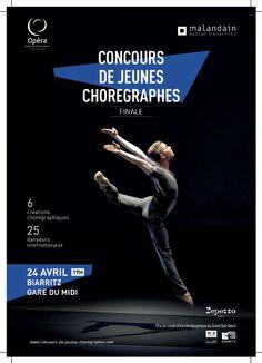 Finale du Concours de Jeunes chorégraphes classiques et neo-classiques, le 24 avril à Biarritz, à 17h